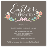 blessings bow easter invitation 5x5 flat