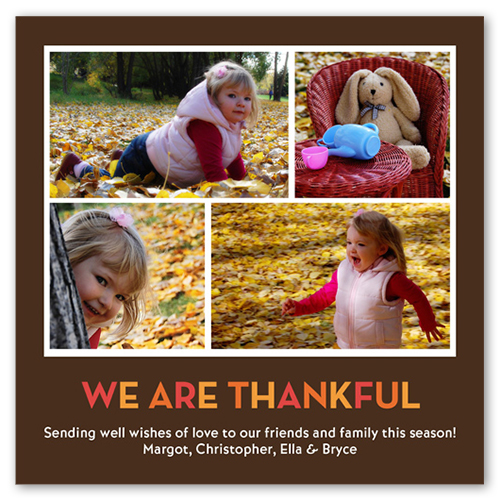 We Are Thankful Fall Greeting