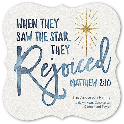 The Brightest Star Religious Christmas Card