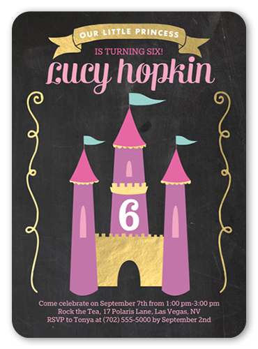 Fantastic Castle Birthday Invitation, Rounded Corners