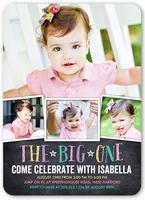 chalkboard celebration girl birthday invitation 5x7 flat