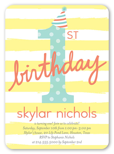 Perfect Party Hat Birthday Invitation