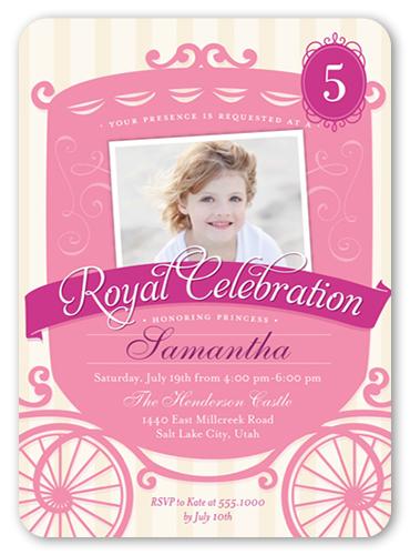 Royal Celebration Birthday Invitation, Rounded Corners