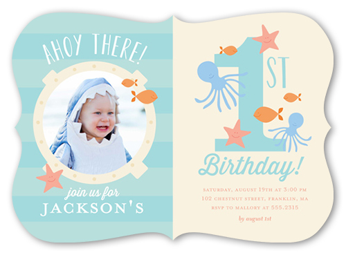 Ahoy There Birthday Invitation