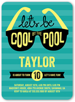 Cool By The Pool Birthday Invitation 5x7 Flat