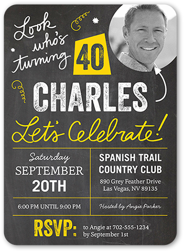 40th Birthday Invitations Shutterfly