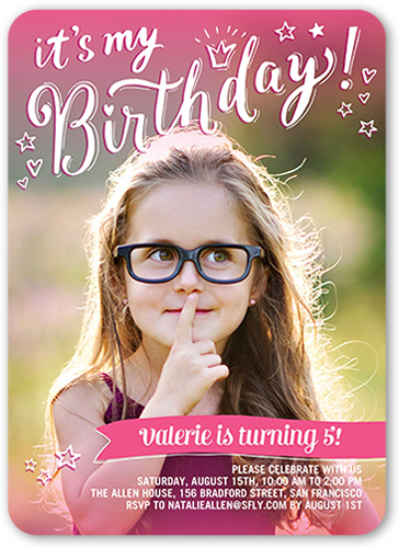 Pink princess invitation shutterfly princess pink birthday invitation stopboris