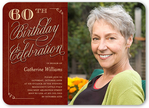 60th birthday invitations shutterfly rustic elegance birthday invitation filmwisefo Choice Image