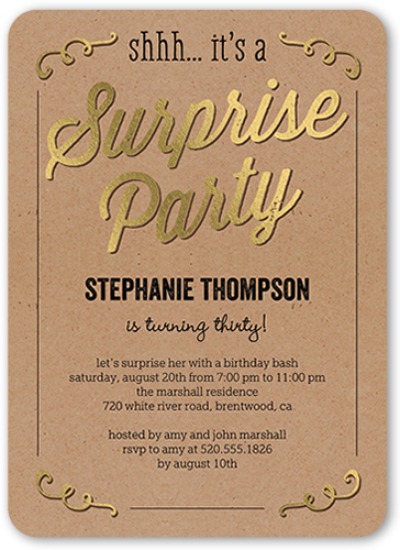 Sweet Surprise Birthday Invitation