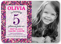 Sprinkles Galore Girl Birthday Invitation 5x7 Flat