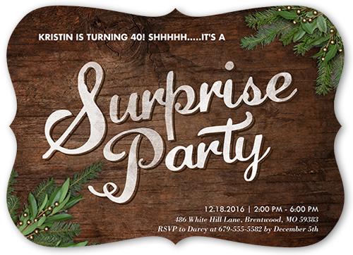 Evergreen Event Birthday Invitation, Bracket Corners