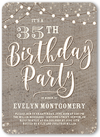 Rustic Party Birthday Invitation 5x7 Flat