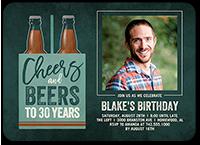 cheers and beers birthday invitation 5x7 flat