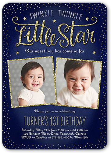 Phenomenal Custom Color Girl First Birthday Invitations Shutterfly Funny Birthday Cards Online Alyptdamsfinfo