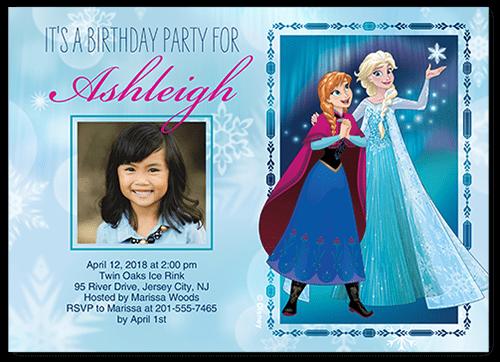 Disney Frozen Bokeh Snowflakes 5x7 Stationery Card By Disney Shutterfly