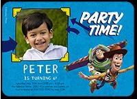 disney pixar toy story celebration birthday invitation 5x7 flat