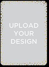 Upload Your Own Confetti Birthday Invitation 5x7 Flat