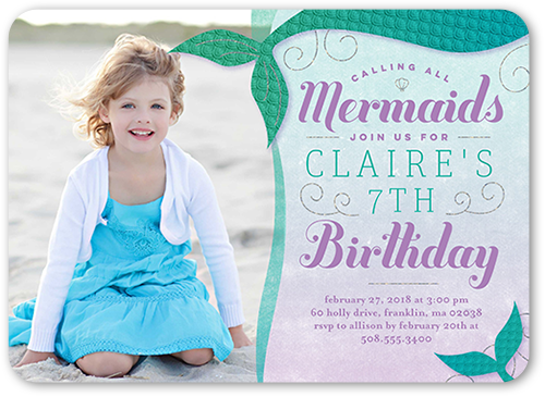 Mermaid Party Birthday Invitation