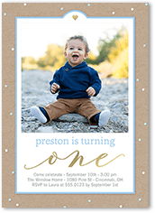 Little Hearts Boy Birthday Invitation