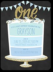 Extraordinary Cake Boy Birthday Invitation