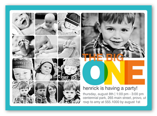 Every Amazing Month Boy Birthday Invitation 5x7 Flat