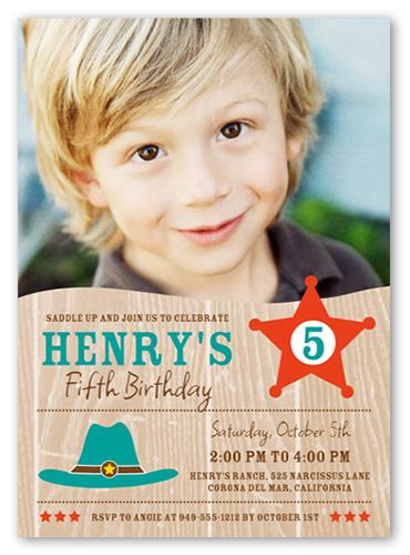 Saddle Up Birthday Invitation, Square Corners
