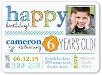 1 photo 5x7 boy birthday invitations boy birthday party invites