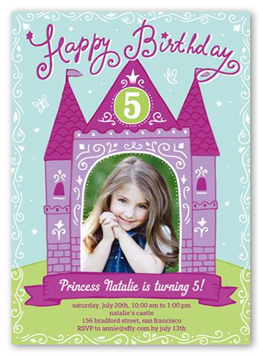 Princess Castle Birthday Invitation, Square