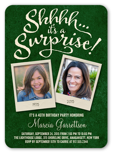 Snapshot Surprise Birthday Invitation
