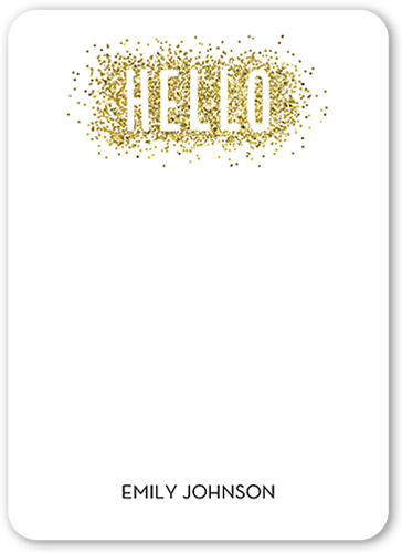 Glitter And Hello Thank You Card
