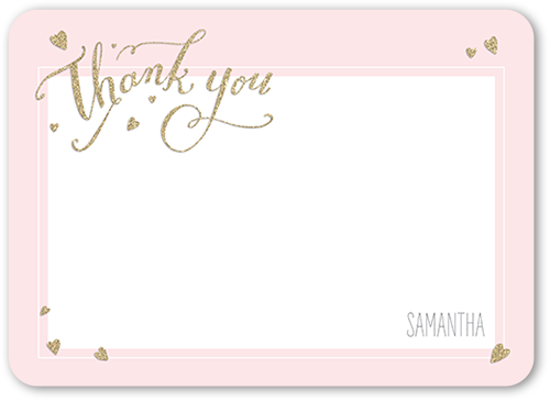 Small Hearts Thank You Card
