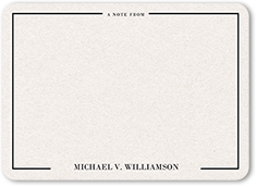 simple antique thank you card 5x7 flat