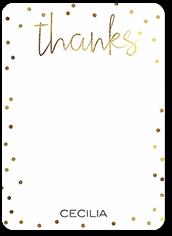 party bokeh thank you card 5x7 flat
