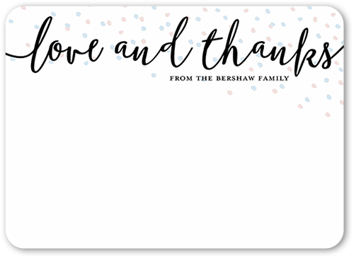 White Christmas Thank You Cards Shutterfly