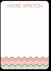 elegant chevron thank you card 5x7 flat
