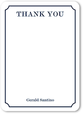 ticket of thanks thank you card 5x7 flat