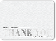 classic shiny recognition thank you card 5x7 flat