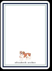 bulldog love thank you card