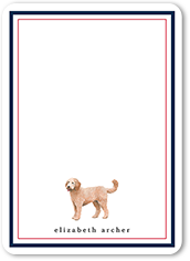 doodle dog love thank you card