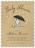 bunny shower baby shower invitation 5x7 flat