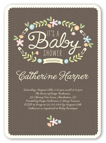 christmas baby shower invitations  shutterfly, Baby shower