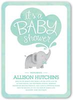 little elephant boy baby shower invitation 5x7 flat