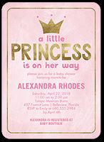 newborn princess baby shower invitation 5x7 flat