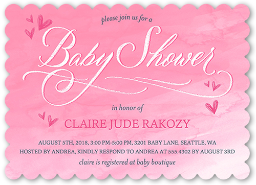 Floral baby shower invitations shutterfly arriving watercolor girl baby shower invitation filmwisefo