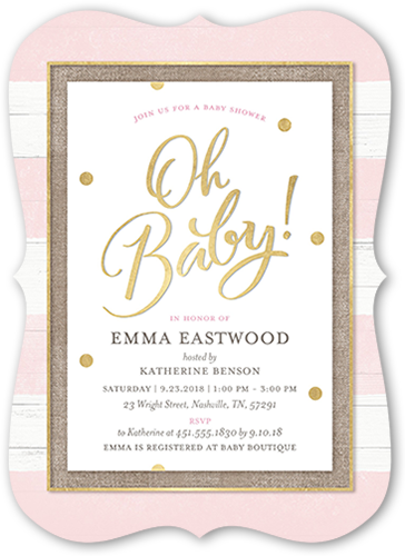 Oh Newborn Stationery Card Baby Shower Invitations Shutterfly