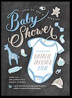 chalkboard arrival boy baby shower invitation 5x7 flat