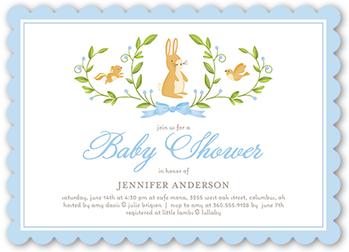 Animal Laurels Boy Baby Shower Invitation