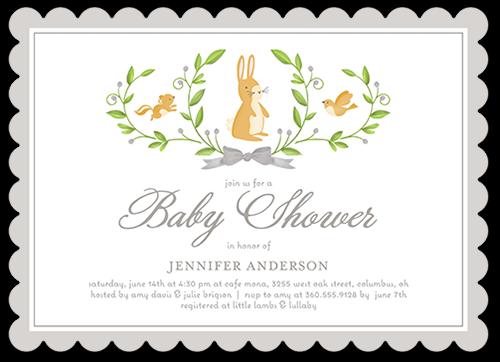 Animal Laurels Baby Shower Invitation