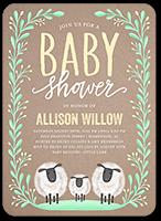 laurel arrival baby shower invitation 5x7 flat
