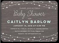strung lights baby shower invitation 5x7 flat